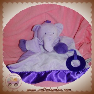 SOFT FRIENDS SOS DOUDOU ELEPHANT VIOLET DENTITION PLAT