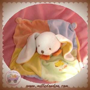 BABYNAT BABY NAT DOUDOU LAPIN BLANC PLAT JAUNE BLEU BABYDO SOS