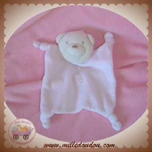 ABSORBA SOS DOUDOU OURS PLAT ROSE BEIGE ETOILE