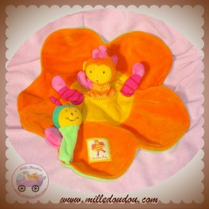 MOULIN ROTY DOUDOU ABEILLE LOUNA PLAT ORANGE BEBE OVAL SOS