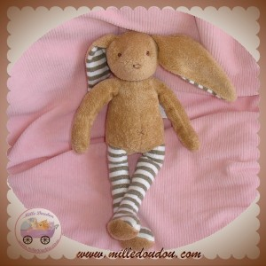 SERGENT MAJOR DOUDOU LAPIN MARRON JAMBES RAYEES KAKI SOS