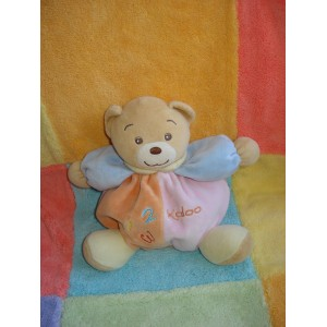 KALOO SOS DOUDOU OURS BEIGE BOULE ORANGE ROSE 123