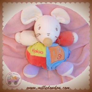 KALOO SOS DOUDOU SOURIS BOULE BLEU COLLECTION 123