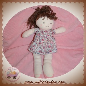 SERGENT MAJOR SOS DOUDOU POUPEE ROSE ROBE FLEUR