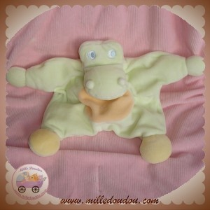 JOLLYBABY SOS DOUDOU CROCODILE QUASI PLAT VERT ORANGE SAFARI