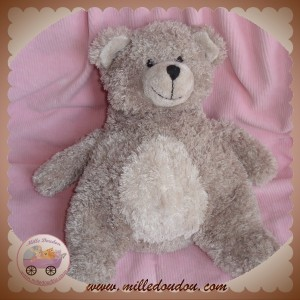 LES PETITES MARIE SOS DOUDOU OURS TAUPE GRIS RAYNAUD