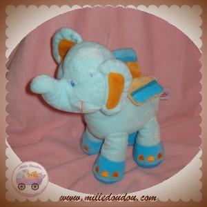 POMMETTE SOS DOUDOU PELUCHE ELEPHANT BLEU