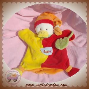 BABYNAT BABY NAT SOS DOUDOU CANARD MARIONNETTE ROUGE JAUNE