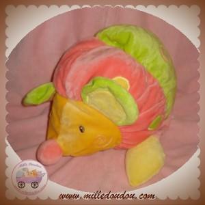 BABYSUN DOUDOU SOURIS HOCHET VERT ROSE JAUNE BABY SUN