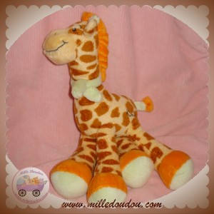 KIMBALOO SOS DOUDOU PELUCHE GIRAFE MARRON ORANGE