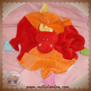 NATTOU SOS DOUDOU DRAGON PLAT ROUGE ORANGE TRIANGLE