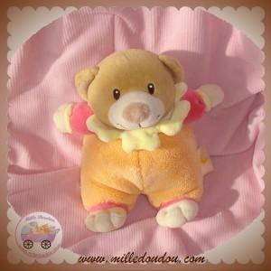 BABY LUNA SOS DOUDOU OURS BEIGE ORANGE JAUNE