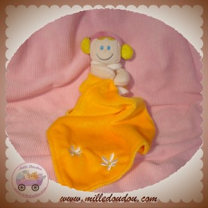 BABY LUNA SOS DOUDOU POUPEE ROSE ORANGE MOUCHOIR