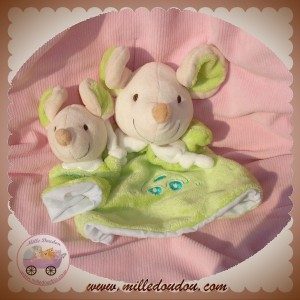 PLAYKIDS PLAY KIDS DOUDOU SOURIS MARIONNETTE VERTE BEBE SOS