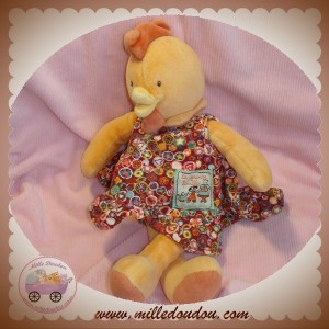 MOULIN ROTY SOS DOUDOU POULE COQ ORANGE ROBE