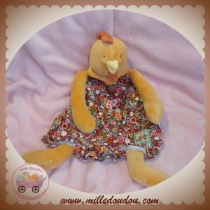 MOULIN ROTY SOS DOUDOU POULE COQ PLAT ORANGE ROBE