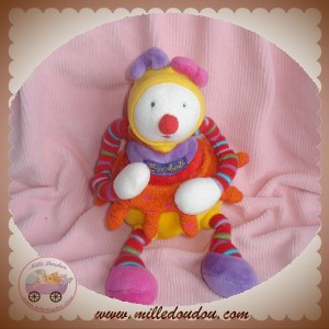 MOULIN ROTY SOS DOUDOU CLOWN DRAGOBERT HOCHET JAUNE ORANGE