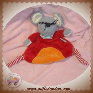 STERNALER SOS DOUDOU SOURIS GRISE PLATE ROUGE ORANGE