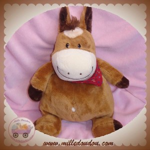 ALTHANS CLUB SOS DOUDOU CHEVAL MARRON BANDANA ROUGE