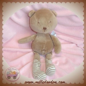 NATALYS SOS DOUDOU OURS MARRON CHAUSSETTE SERGENT MAJOR