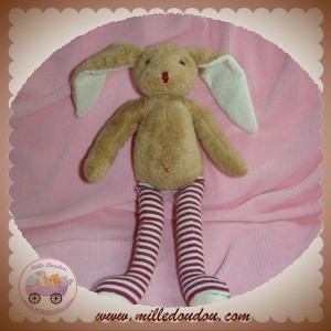 SERGENT MAJOR SOS DOUDOU LAPIN BEIGE JAMBES RAYEES ROUGE CMP