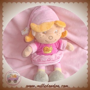 BENGY DOUDOU FILLE SAUMON ROBE ROSE ESCARGOT SOS